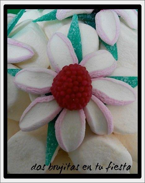 Flores tropicales maceta dulce candy bar mesa dulce - Macetas de chuches ...
