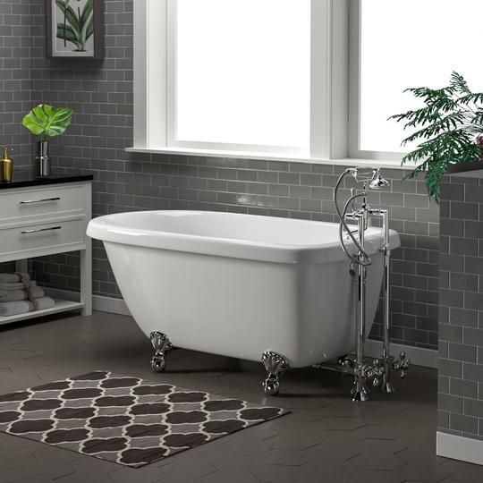 """54"""" Kimberton Acrylic Roll-Top Clawfoot Tub   Clawfoot tub ..."""