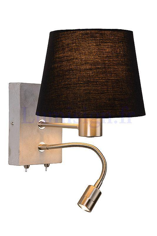 Applique liseuse poss led liseuses appliques de chevet luminaires intérieurs marque lucide