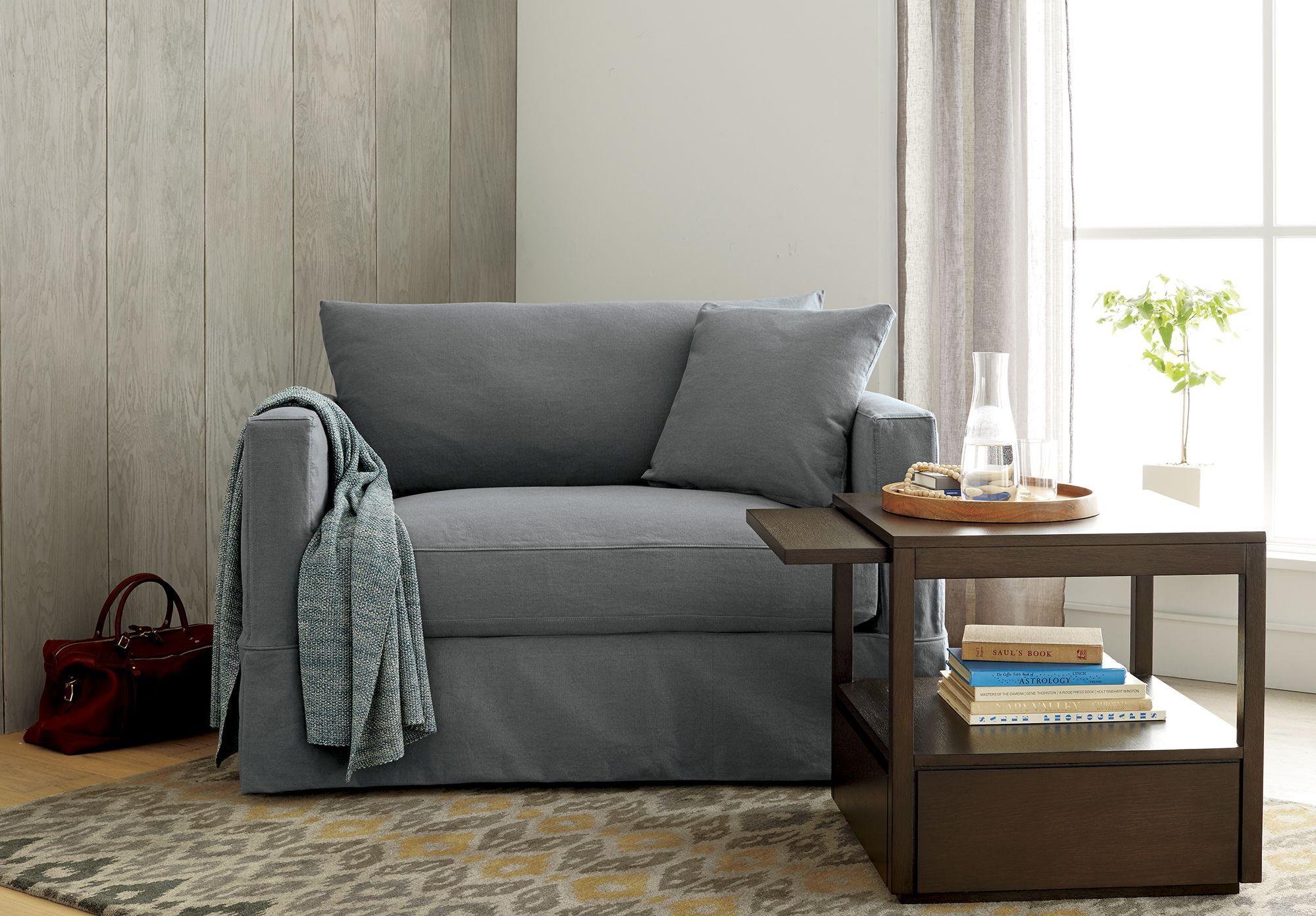 Willow Grey Twin Sofa Sleeper with Air Mattress + Reviews