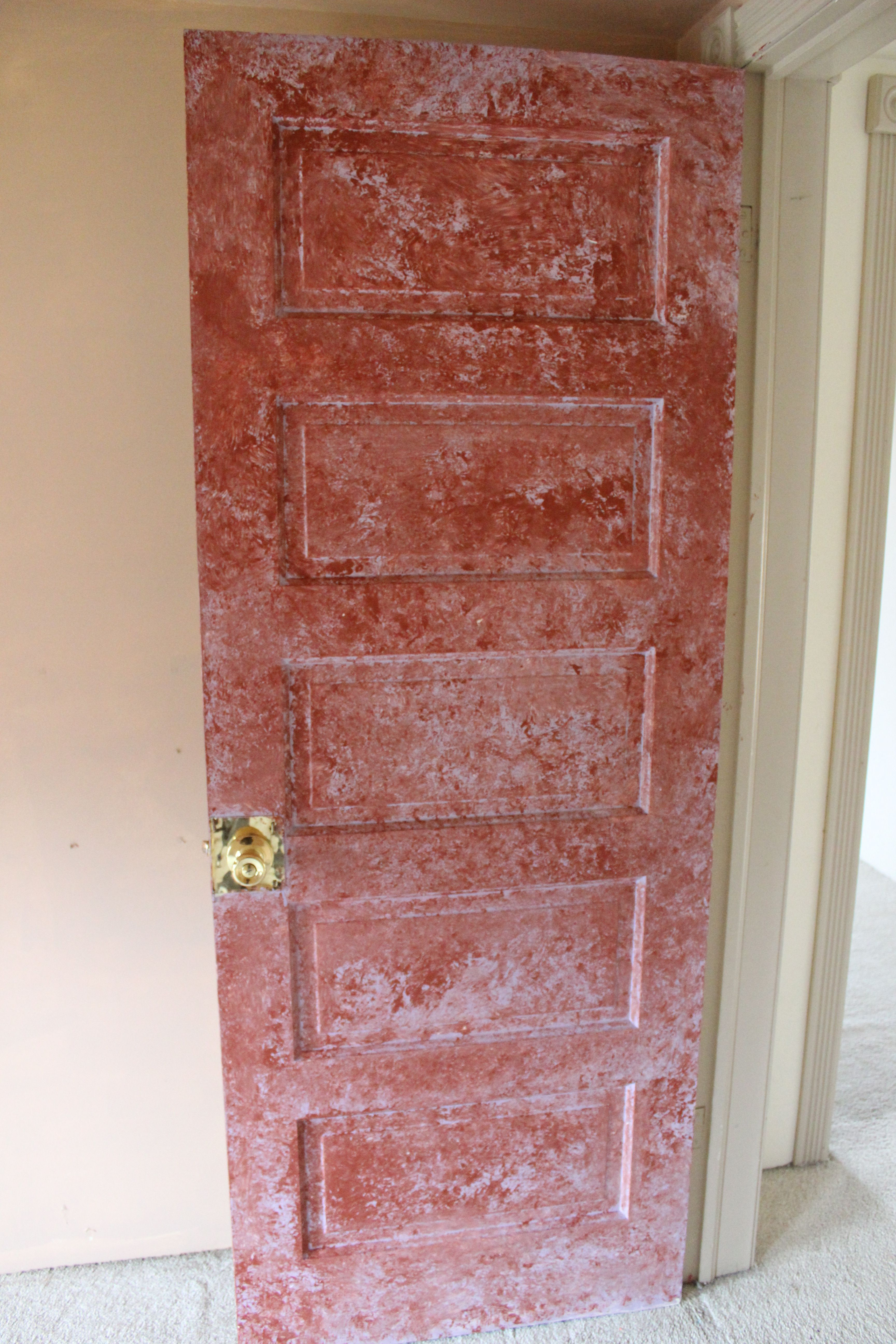 Sponge Painted Door Really Painted Doors Sponge