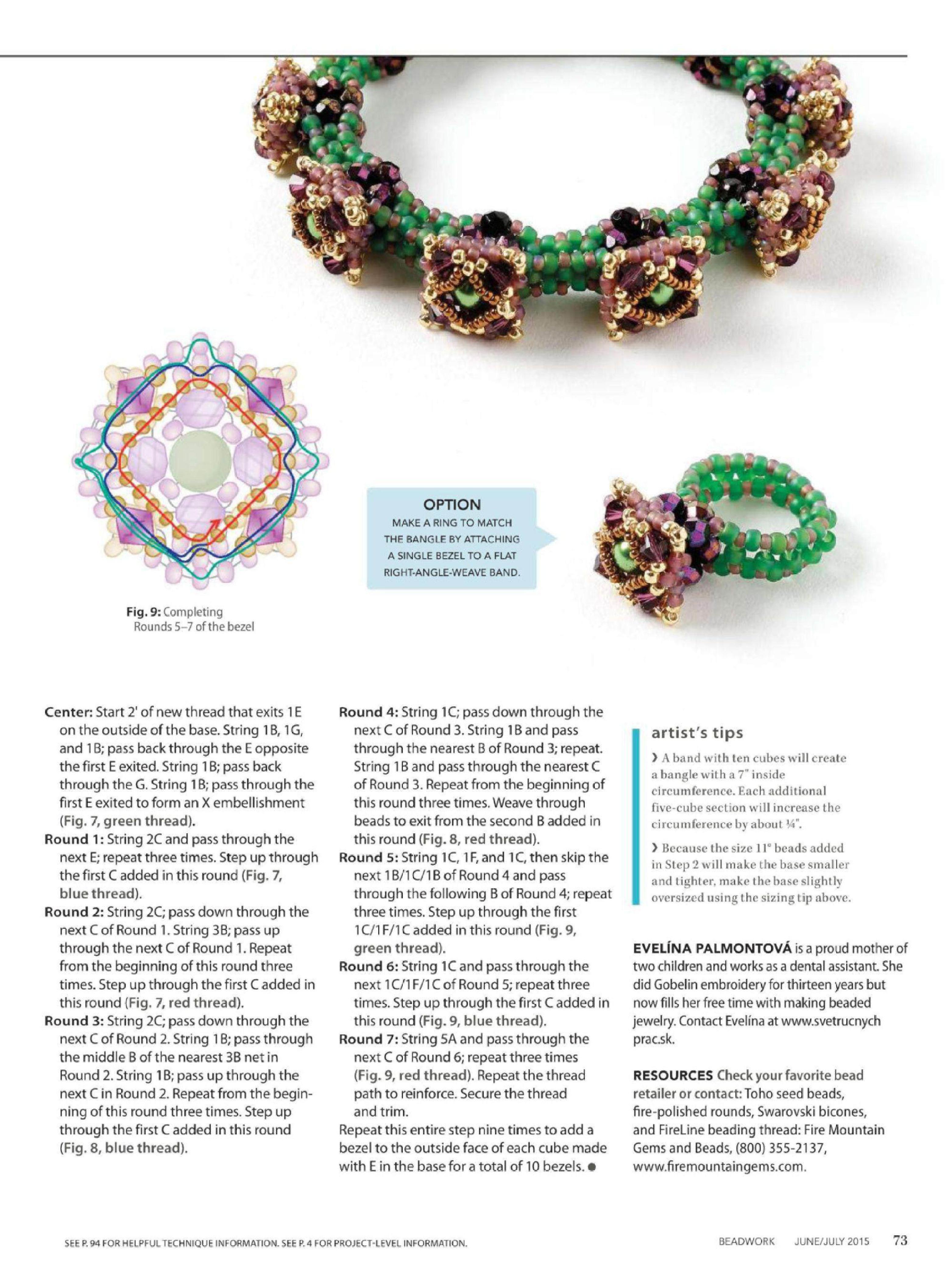 HIDDEN GEMS Bracelet - FREE Tutorial. Page 3 of 3