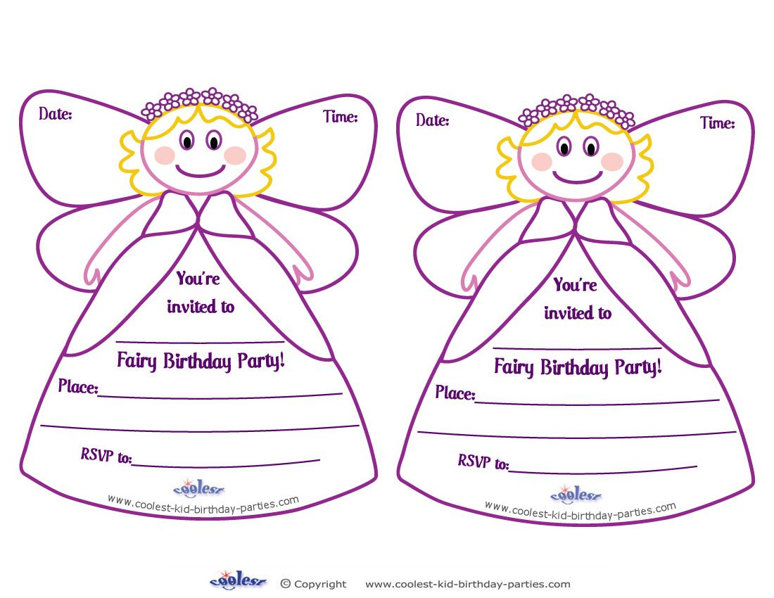 Printable Fairy Invitations - Coolest Free Printables---- http ...