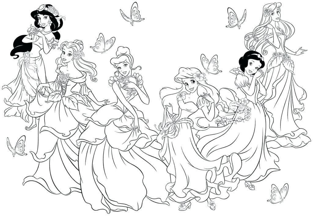 Princess Disney Coloring Princess Coloring Pages Tangled Princess