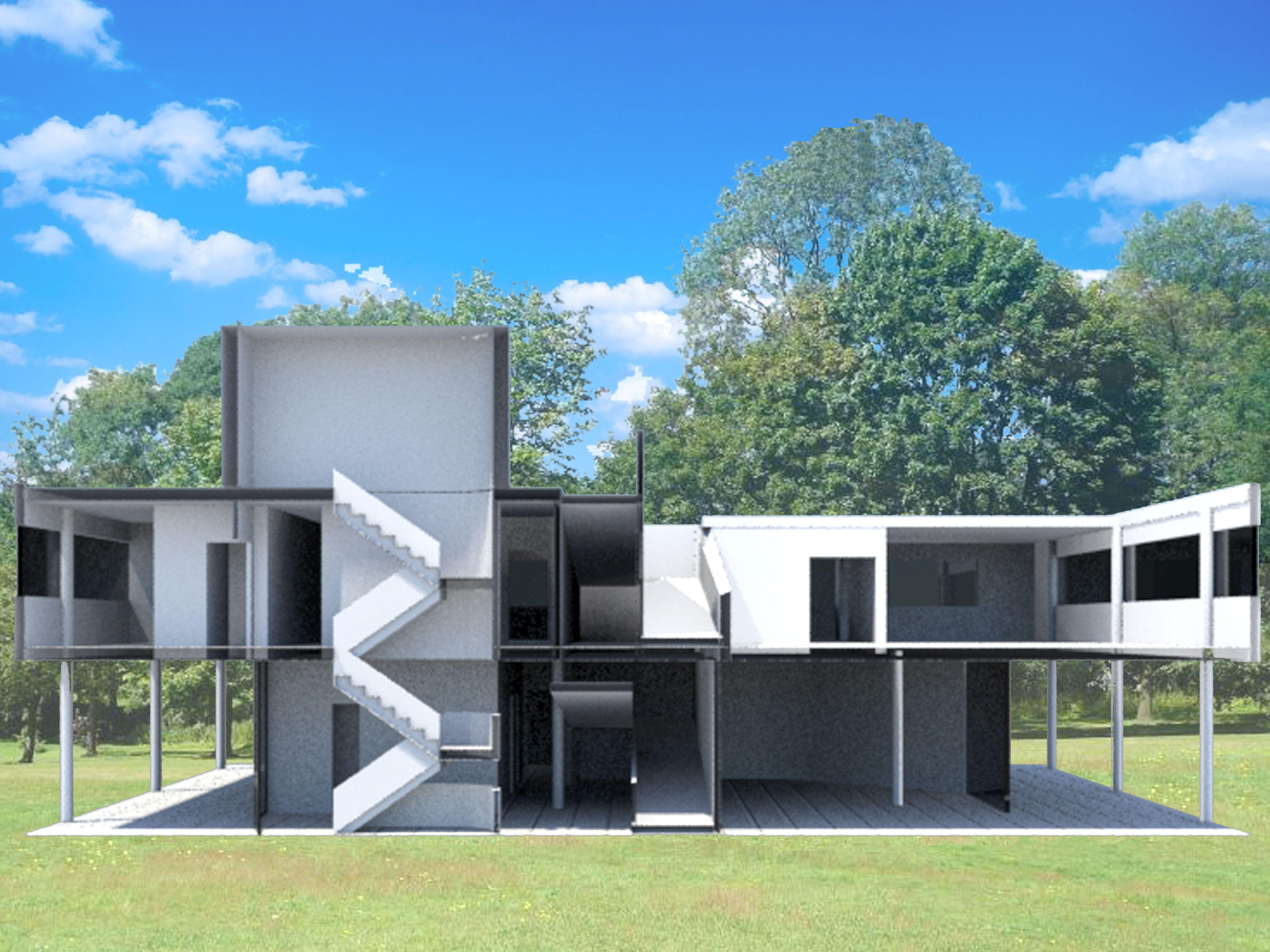 Le corbusier villa savoye interior - Explore 3ds Max Le Corbusier And More Villa Savoye