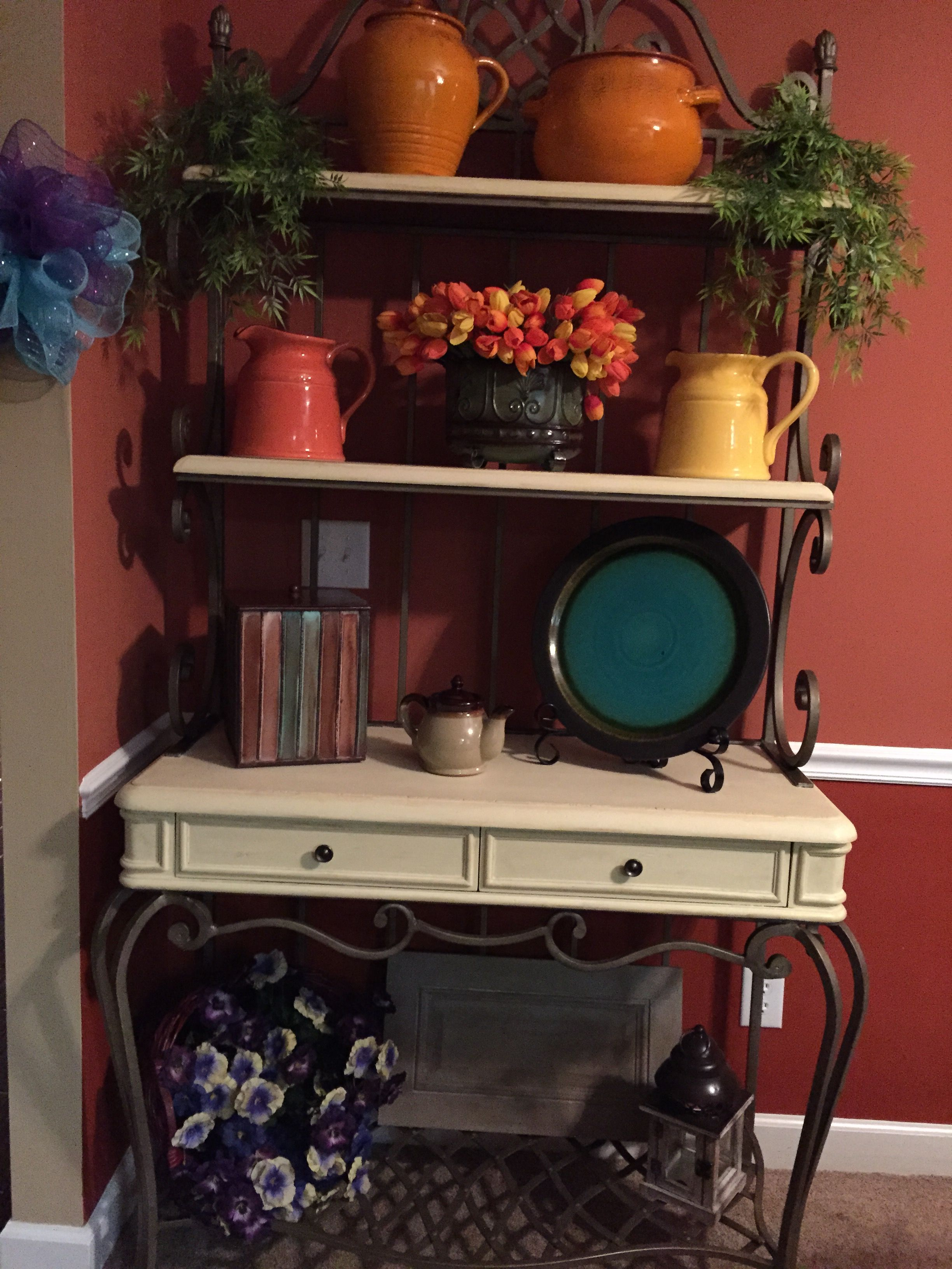 Bakers Rack After Annie Sloan Chalk Paint With Images Dinning
