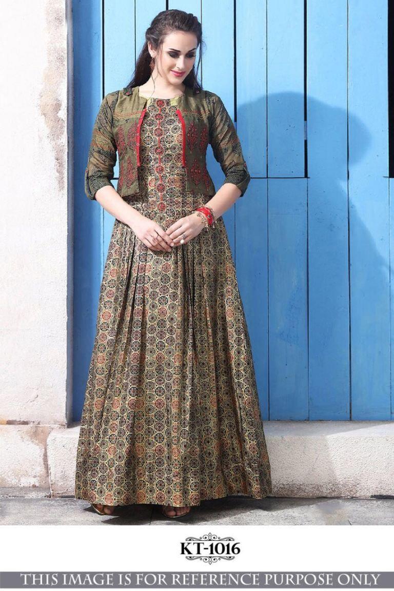 4c8f1b133c indian woman wedding wear Party Wear Bollywood style KT-1016 Multi CHANDERI  COTTON WITH DIGITAL