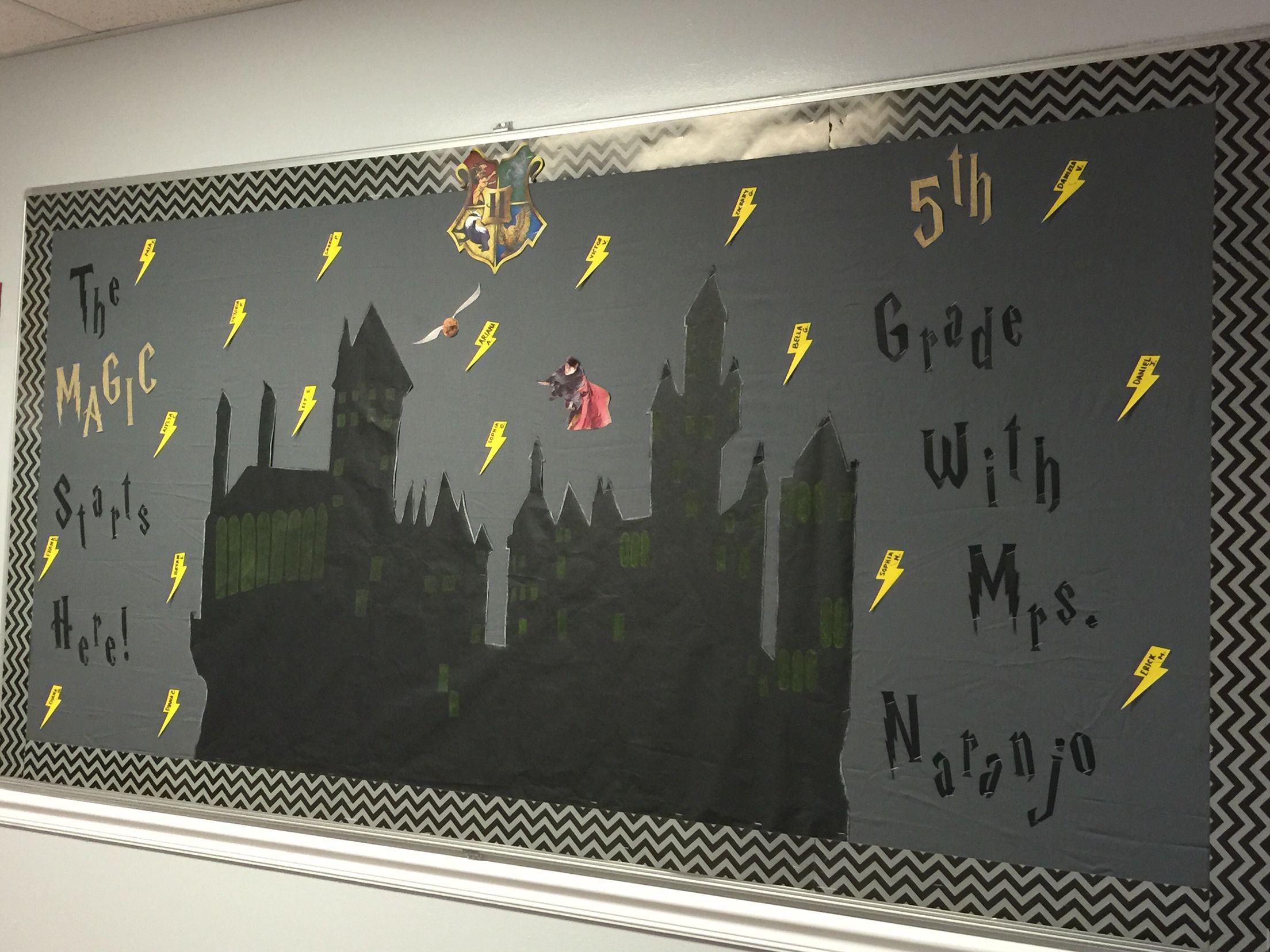 Harry potter welcome back to school bulletin board harry for Decoracion dia del estudiante