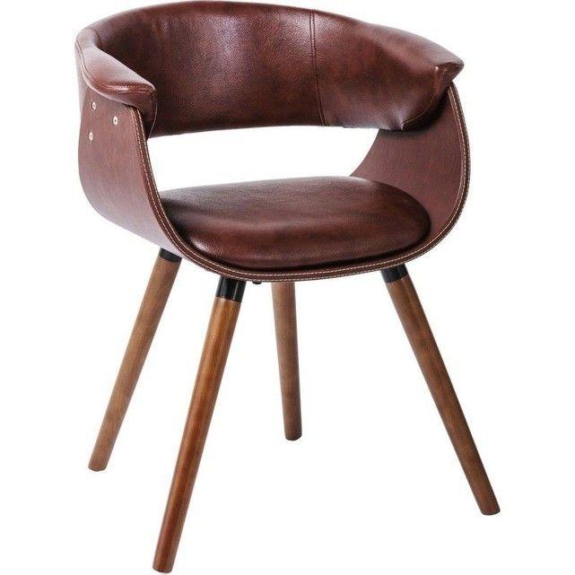 Chaise Avec Accoudoirs Monaco Nougat Kare Design Marron Kare