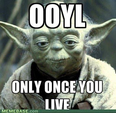 YOLO or is OOYL?