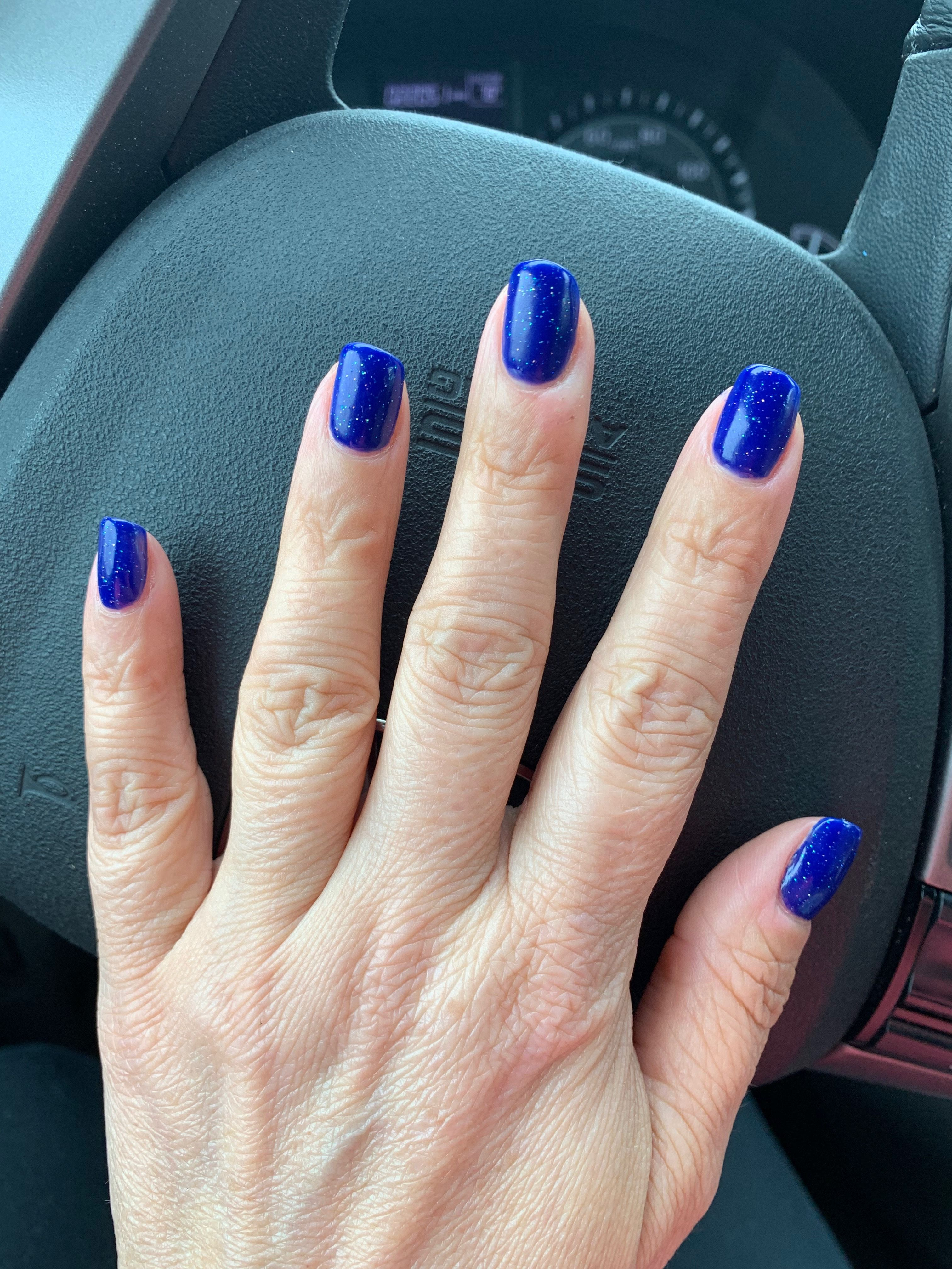 Cnd Shellac Blue Moon With Sparkle Topcoat Gel Nails Cnd Shellac Nail Designs
