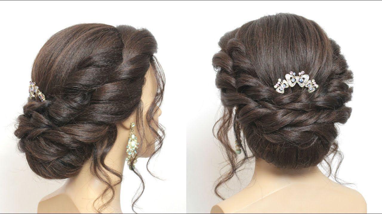 simple hair bun. party hairstyle for girls. easy hairdo