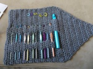 Hook Knitting Patterns : Crochet hook organiser free pattern pinterest