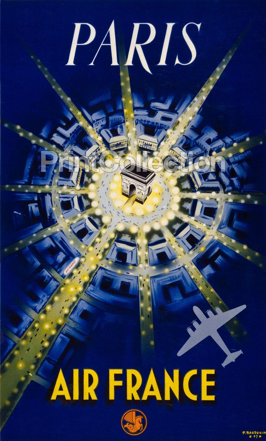 Paris. Air France / P. Baudouin 47 - www.printcollection.com