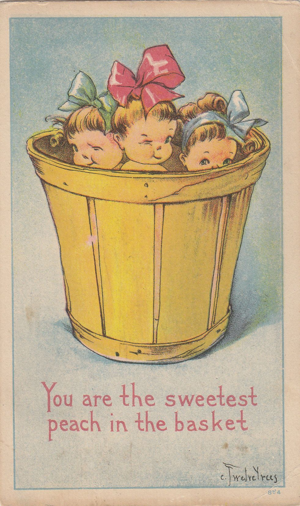 Bilder Vintage You Are The Sweetest Peach In The Basket Pictures Printables