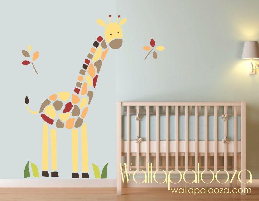 Giraffe Wall Decal Nursery Kids Room Baby