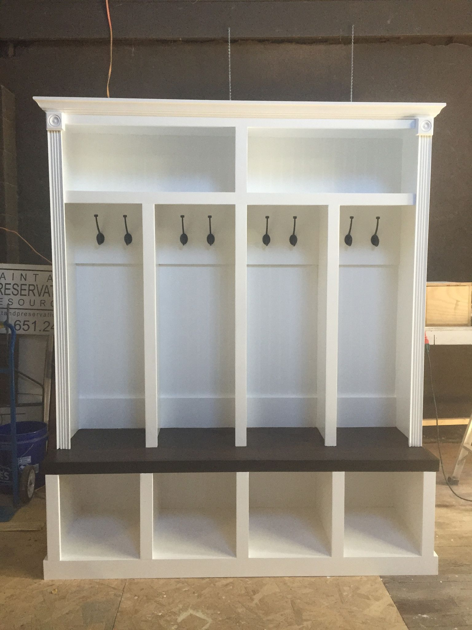 Entryway Locker Dropzone For Mudroom 4 Cubby