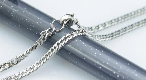 20pcs 24inch 2.5mm 316L stainless steel necklace four by aliyafang, $49.00
