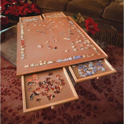 Jumbo Wooden Puzzle Plateau Jigsaw Storage Amp Activity