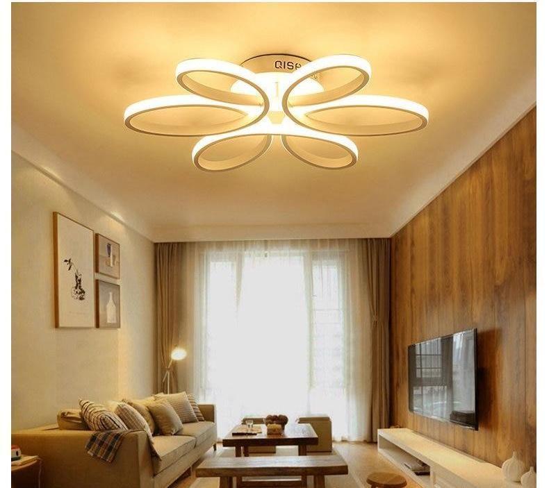 Modern Loop Led Chandelier Ceiling Light Fixtures Living Room Living Room Lighting Light Fittings Living Room