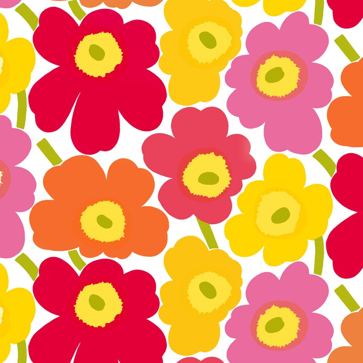 marimekko pieni unikko wallpaper unikko flowers from. Black Bedroom Furniture Sets. Home Design Ideas