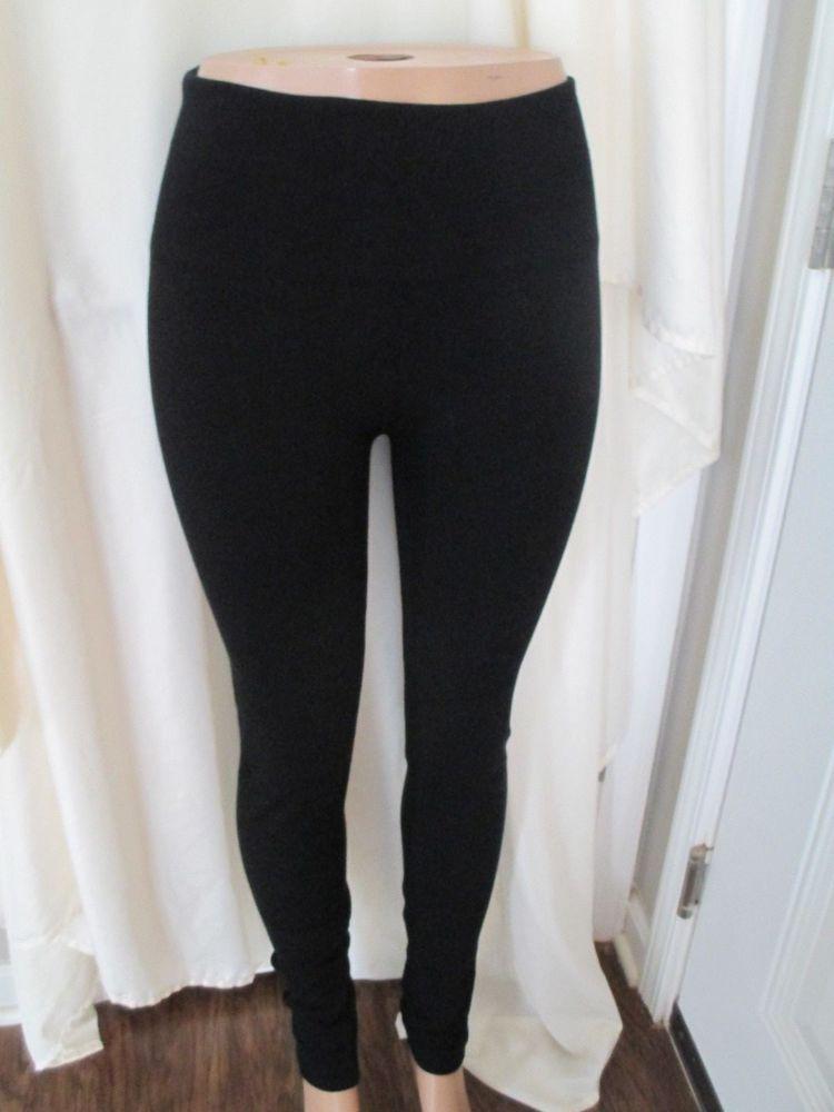 cfc18eaceb8845 Merona Thick High Waist Leggings in Black sz Large -X-Large #Merona # Leggings #Casual