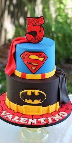 Super Hero Cake Cake and Cupcake Inspiration for Kids Birthday