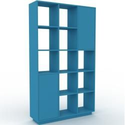 Photo of Storage wall blue – individual designer shelf wall: doors in blue – high quality materials – 118 x 200