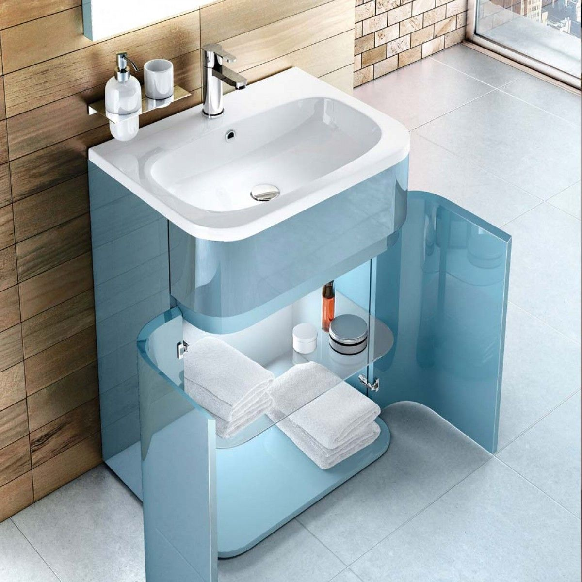 Britton Bathrooms Gullwing 600mm Floor Standing Vanity Unit | Vanity ...