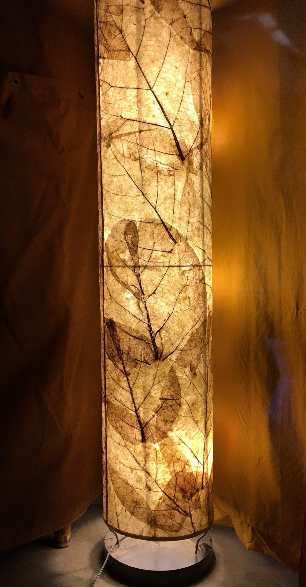 Teak Leaf Floor Lamp Handmade Lamps Paper Floor Lamp Diy Lamp Shade