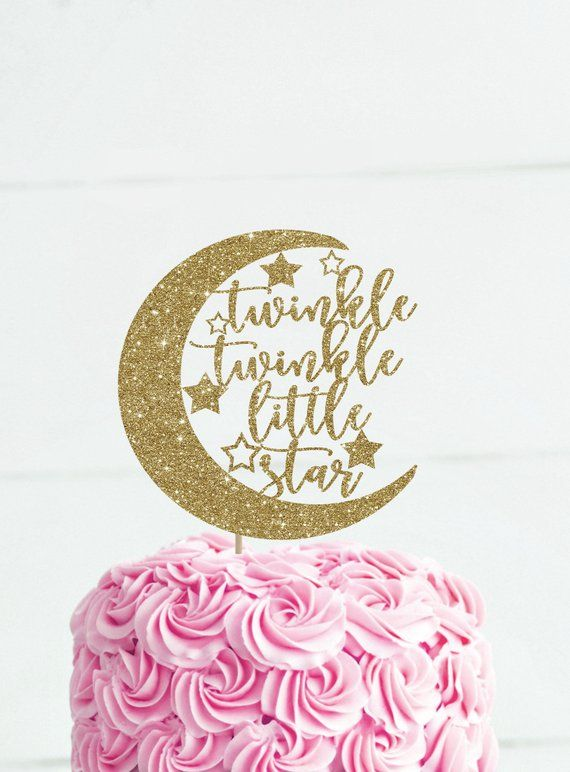 Twinkle Twinkle Little Star Cake Topper Baby Shower Decoration Moon And Stars Baby Shower Decor