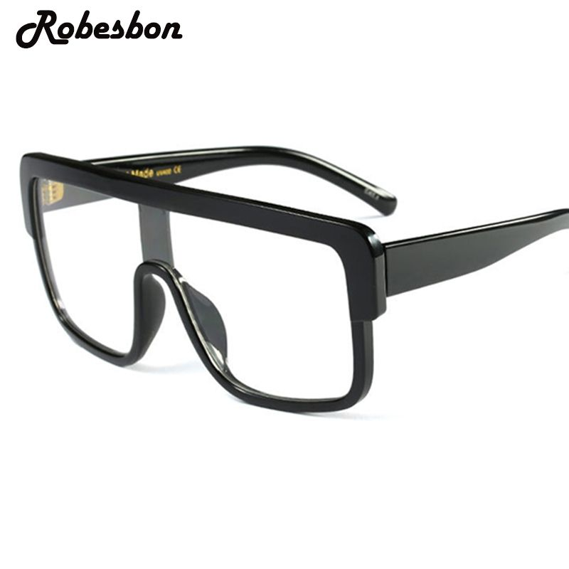 8039e6fddcc 2017 New Fashion Big Frame Clear Glasses Frames for Men Classic Square Optical  Eyeglasses Frames Women