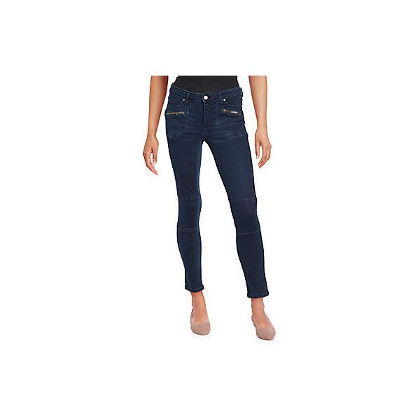 Calvin Klein Jeans Cropped Ankle Jeans ($30) ❤ liked on Polyvore featuring jeans, trafaluc blue, skinny jeans, ankle jeans, ankle length skinny jeans, blue skinny jeans and zipper skinny jeans