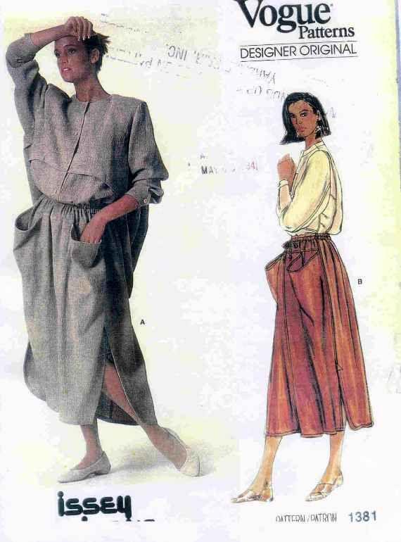 Issey Miyake Vogue Pattern | Vintage Patterns | Pinterest | Patrones ...