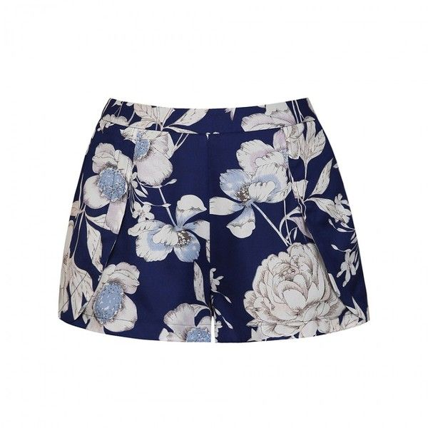 Ally Fashion Floral print wrap front short (13 AUD) ❤ liked on Polyvore featuring shorts, print, print shorts, patterned shorts, floral print shorts, floral printed shorts and flower print shorts