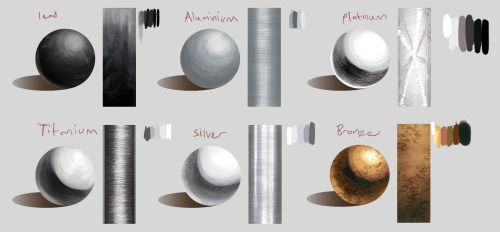 reference Digital Painting textures art reference metals metal