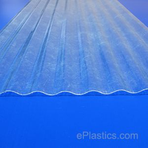 Super 600 6 Oz Clear 700 26 X 96 2 1 2 X 1 2 Profile Corrugated Fiberglass Sheet At Eplastics Fibreglass Roof Corrugated Plastic Roofing Covered Pergola