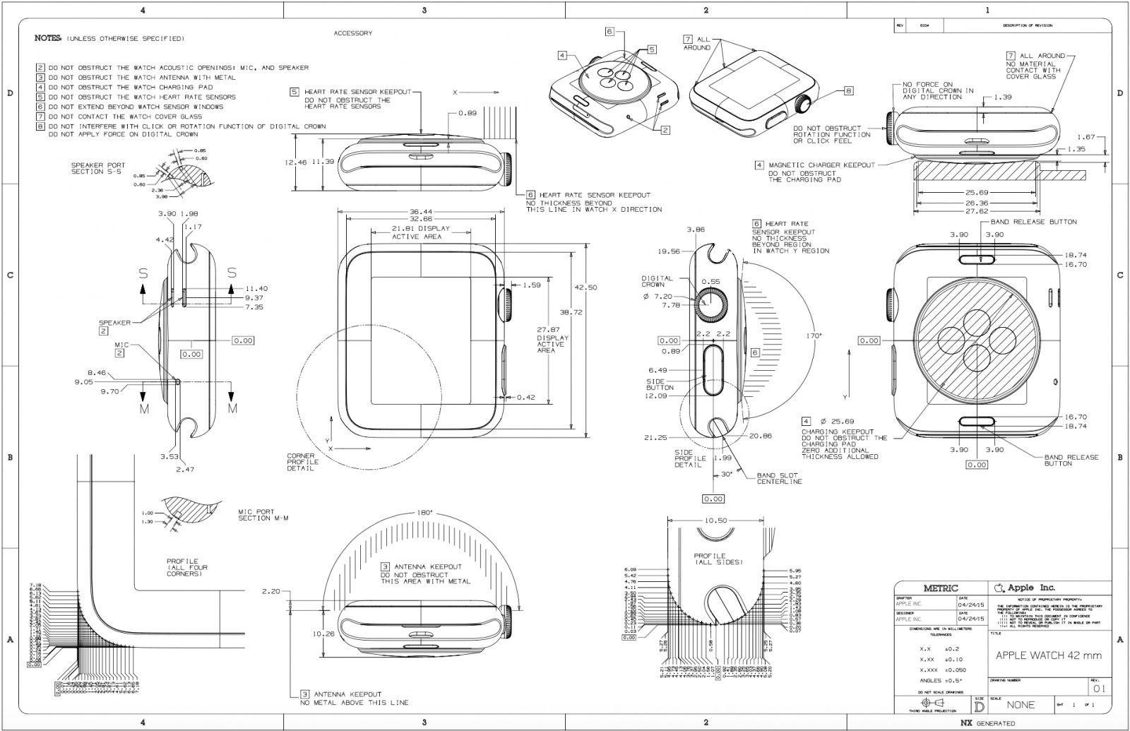 Apple watch schematicg 1600 1035 pixels watch pinterest design nerds will love this beautiful apple watch schematic malvernweather Gallery