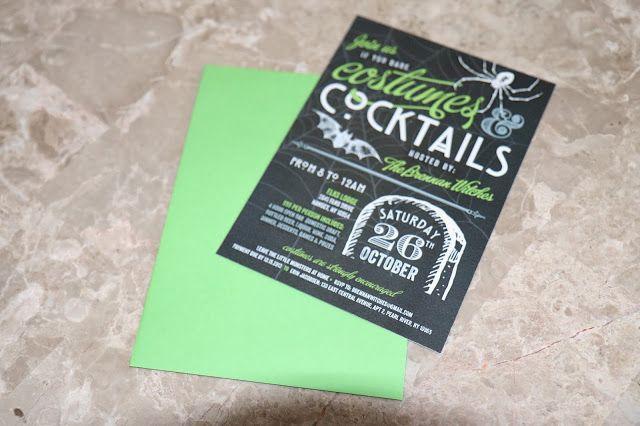 Green Envelopes Halloween Invite