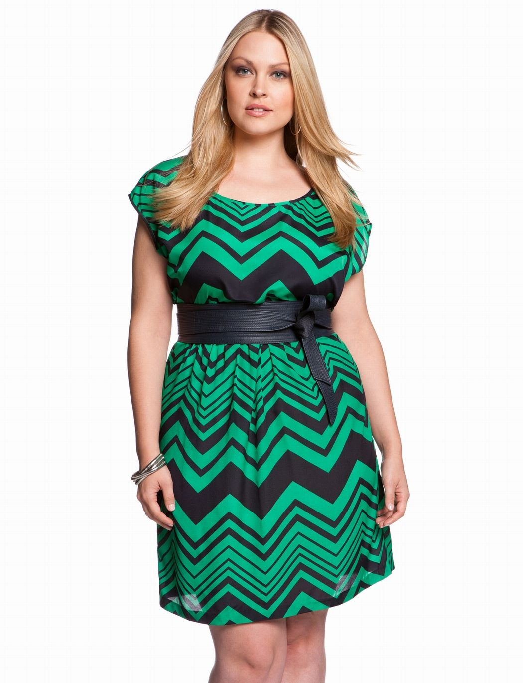 This is fantastic. Not sure I could wear it, but I love it! Chevron T-shirt Dress | Plus Size Work & Day Dresses | eloquii by THE LIMITED