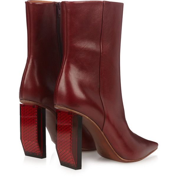 3650fcb50b64 Vetements Reflector-heel leather ankle boots ($1,710) ❤ liked on Polyvore  featuring shoes