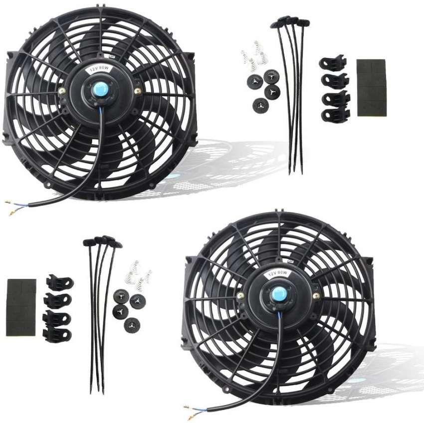 Mounting Kit 7 inch MOSTPLUS Black Universal Electric Radiator Slim Fan Push//Pull 12V