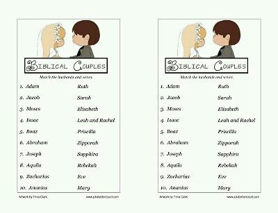 biblical couples matching game printable great game for couples night at church - Valentine Games For Church