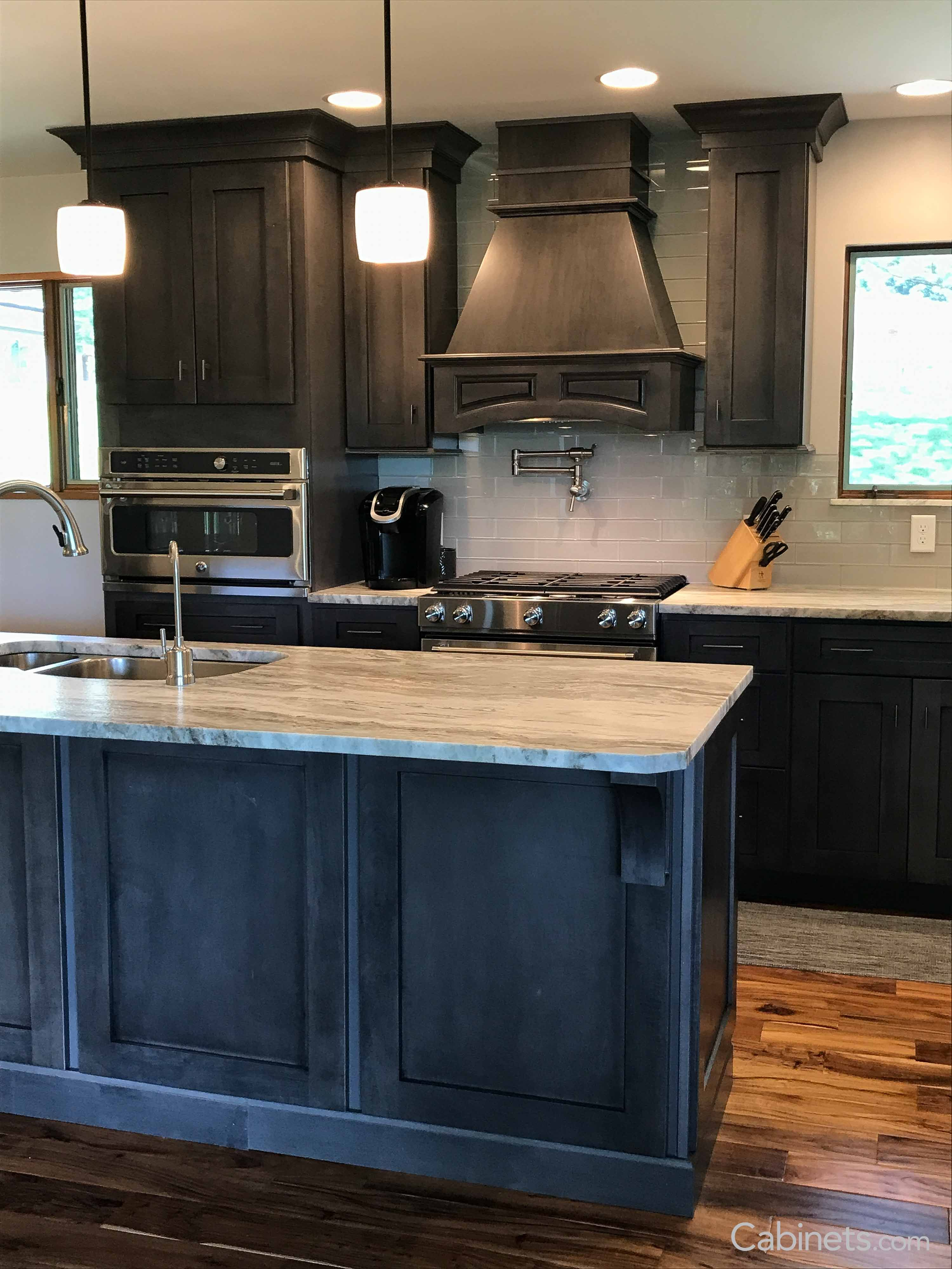 kitchen cabinets.com small carts on wheels shaker maple slate cabinets for your new style