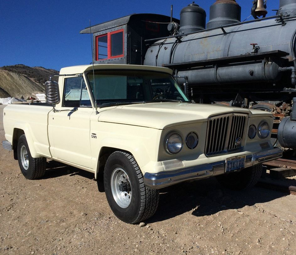 This 1969 jeep gladiator has recently received a partial learn more about cadillac power 1969 jeep gladiator on bring a trailer the home of the best vintage and classic cars online publicscrutiny Image collections