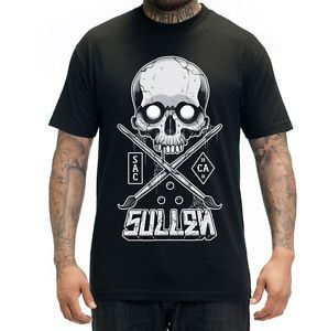 Sullen Big Bad Badge - Proudly wear the sullen art collective on this tee featuring the badge on the front in big print and hand sized on the top center.