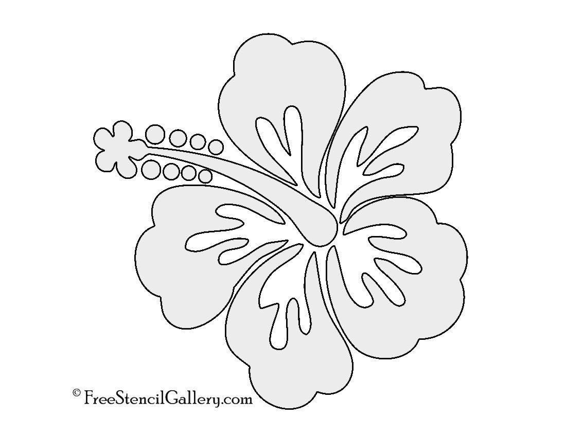 Flower Stencil, Hibiscus Flower
