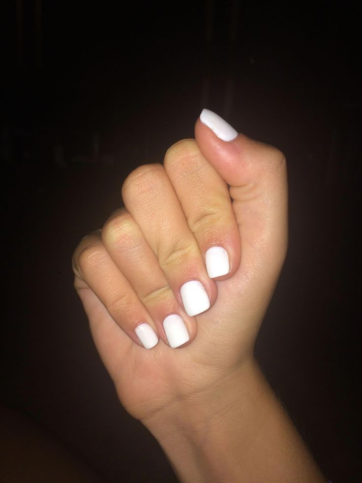 How Do I Make My Makeup Really Good White Acrylic Nails White Nails Nexgen Nails