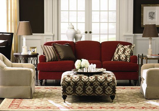 Home decor with red couches images
