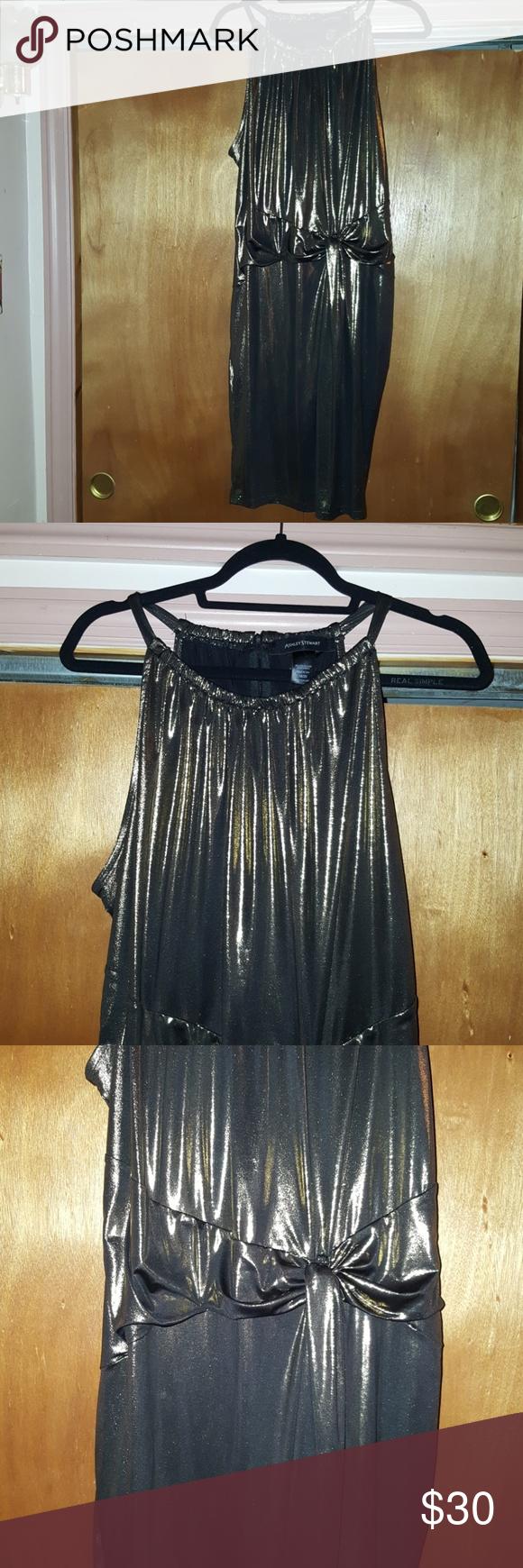 debabc62cea Evening dress Ashley Stewart size 18-20 no sleeve black and gold evening  dress Zips
